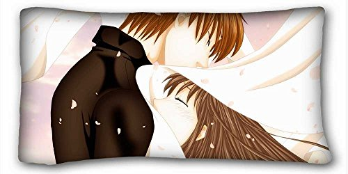 Soft Pillow Case Cover ( Anime Fruits Basket ) Pillow Cushion Case Cover One Sides Printed 20x36 Inches suitable for X-Long Twin-bed PC-Yellow-28389