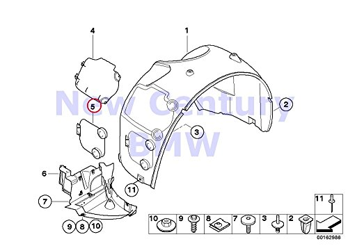 BMW Genuine Wheel Arch Trim Front Cover Left Z4 2.5i Z4 3.0i Z4 3.0si Z4 M3.2 Z4 3.0si