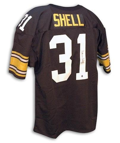Donnie Shell Autographed Jersey - black Throwback - Autographed NFL Jerseys Autographed Nfl Throwback Black Jersey
