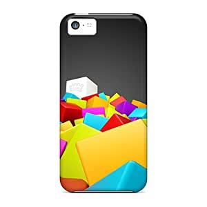 New Iphone 5c Case Cover Casing(3d Colorful Squares)