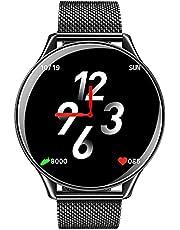 Lemonda Smart Watch Metal Band For Android & iOS,Black - N58