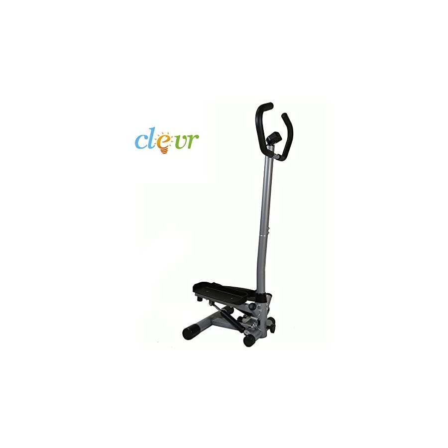 Clevr Twister Stepper w/Handle Bar Step Machine Cardio Training Stair Climber