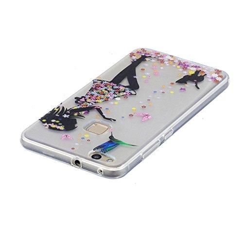 Funda Huawei P10 Lite, CaseLover Carcasa para Huawei P10 Lite (5.2 Pulgadas) Ultra Delgado Transparente Suave Silicona TPU Flexible Gel Protectora Cubierta Resistente a los Arañazos Tapa Ligero Caja A Niña
