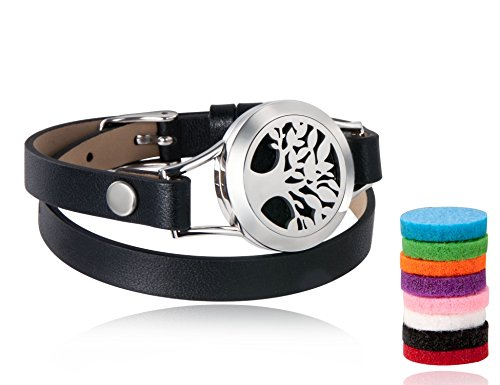 Aromatherapy Essential Diffuser Bracelet Leather