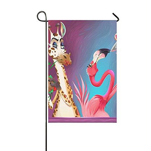 InterestPrint Polyester Garden Flag Banner,Giraffe And Flami