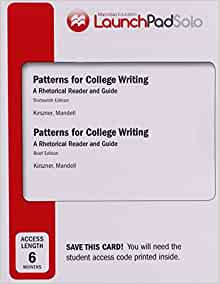 Patterns for College Writing: A Rhetorical Reader and Guide / Edition 13