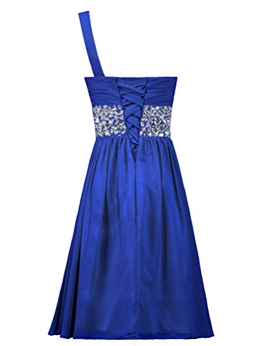 Short Gown Bead Chiffon One Dress ANTS Shoulder Blue Royal Homecoming Cocktail qF8UEYx
