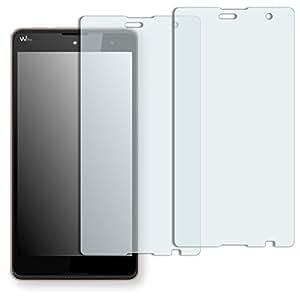 "2 x protectores pantalla Golebo para Wiko Robby. Lámina protectora adhesiva invisible ""Crystal Clear"". Fabricado en Alemania."