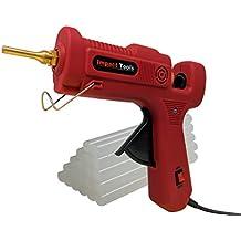"Hot Glue Gun   Full Size Dual Temp 60 & 100 Watt   Extra Long Cord, 1.5 Inch Anti Drip Nozzle and 20 Premium Hot Melt Adhesive Glue Sticks (5"")   Storage Box   Perfect for DIY Arts and Crafts as Well"