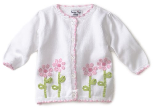 Hartstrings Baby-Girls Newborn Flower Cardigan Sweater