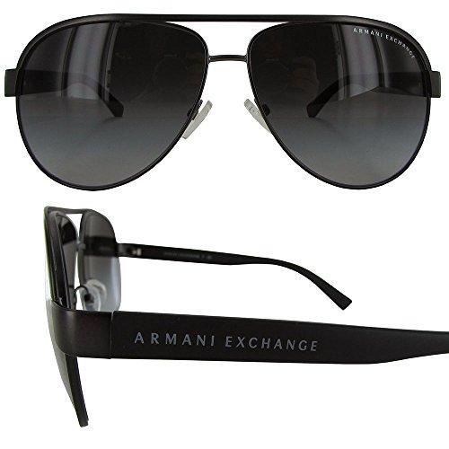 Armani Exchange Men's Metal Man Aviator Sunglasses, Satin Gunmetal, 60 mm