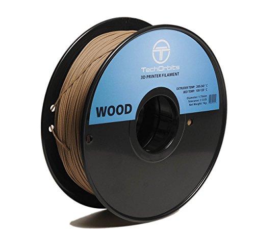 Superior 1 Kg Spool (TechOrbits 3D Wood-1KG1.75- Wood 3D Printer Filament, Dimensional Accuracy +/- 0.05 mm, 1 kg Spool, 1.75)
