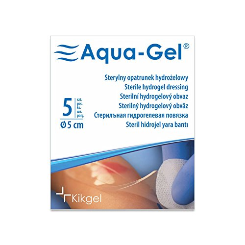 Aqua-Gel, Sterile Hydrogel Dressings 5 pcs (Diameter 5 cm) ()