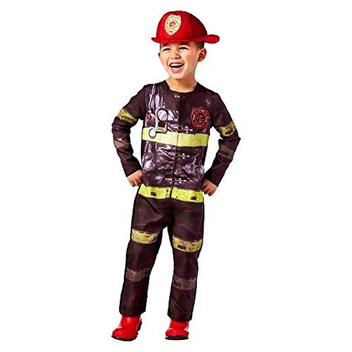 2T-3T Toddler Firefighter Costume Adorable Fireman Fire Fighter Halloween Family