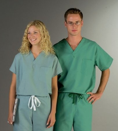 857661f8461 Image Unavailable. Image not available for. Color: Encore Unisex One-Pocket  Reversible Scrub Tops,Jade ...