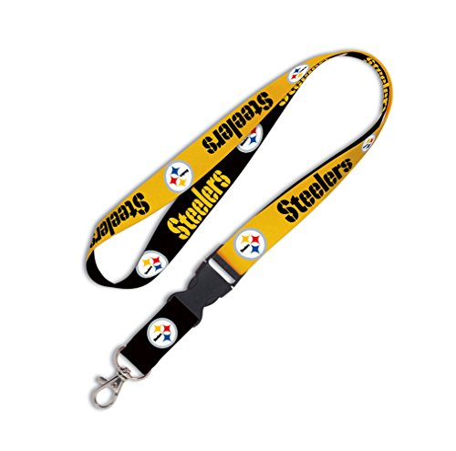 Steelers Buckle (NFL Pittsburgh Steelers Lanyard with Detachable Buckle, 1-Inch)