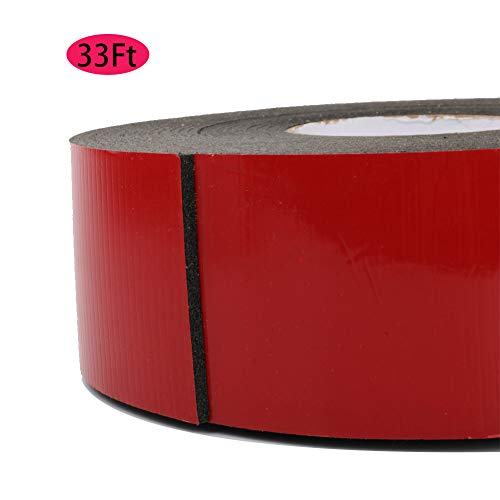 - Super Strong Double Sided Adhesive Tape PE Foam Tape -Weatherproof Mounting Foam Seal Strip for Doors, Car Trim Strip, Photo Frame (Wide 2.36