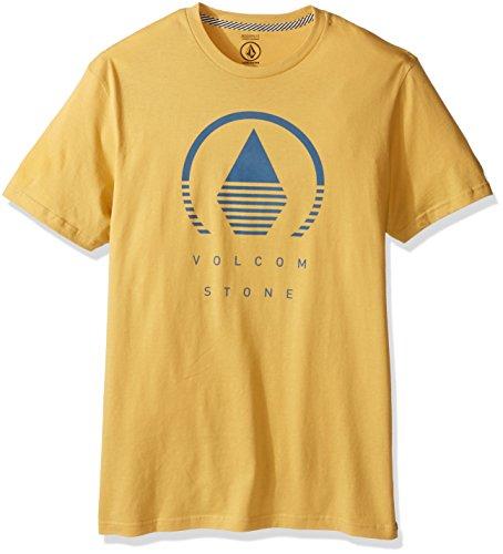 Woven T-shirt (Volcom Men's Horizon Short Sleeve T-Shirt, Dull Gold,)