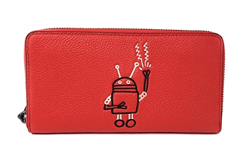 Coach Limited Edition Keith Haring Robot Wallet QB/Bright Orange by Coach