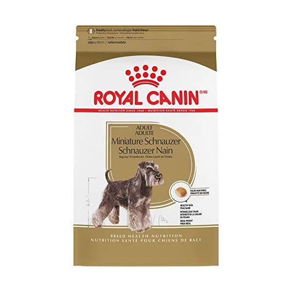 Royal Canin Miniature Schnauzer Adult Breed Specific Dry Dog Food, 10 lb. bag