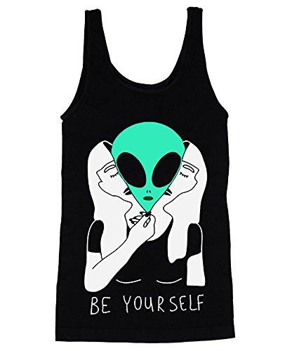 [Be Yourself Aliens In Human Costume Men's Tank Top Shirt Small] (Mens Alien Costume)