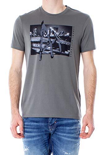 Armani Exchange Man t-Shirt t-Shirt 3gztgy zja5z l Olive Green - Mens T-shirts Green Armani