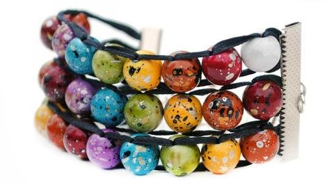 Ablet Knitting Abacus Row Counter Bracelet, Painted Rainbow, 3-Tier - Count Your Rows In Style! by Ablet Knitting Abacus