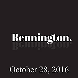 Bennington, October 28, 2016 Radio/TV Program