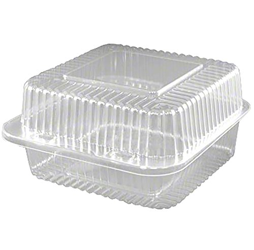 6'' Deep Square Hinge Container, 500 ct. by Cake S.O.S.