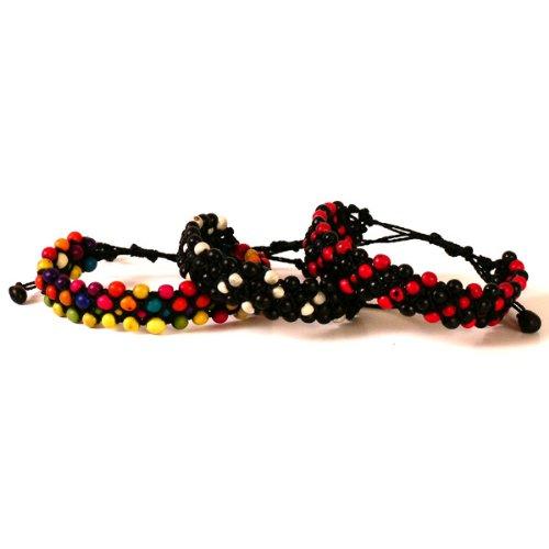 Beads Acai - Three Fair Trade Amazon Acai Seed Beads Bracelets Pack
