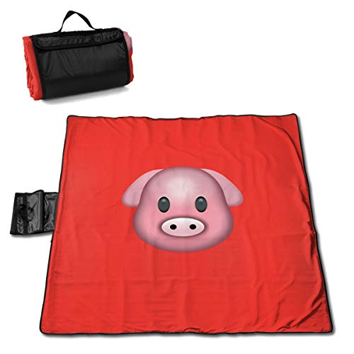 Rojia Pearl Cotton Composite Aluminum Film Pig Picnic Mat 57 * 59in One Size Moisture-Proof and Non-Slip, Highly Waterproof and Anti-Frosting ()