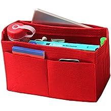 [Fits Speedy 35, Red] Felt Organizer, Bag in Bag, Wool Purse Insert, Customized Tote Organize, Cosmetic Makeup Diaper Handbag