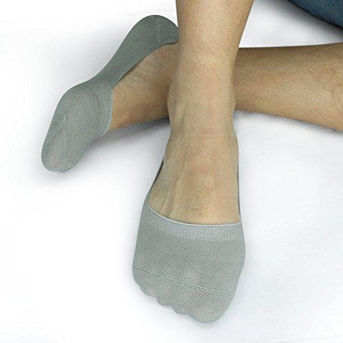 David Archy Men's 12 Pack Cotton No Show Socks(10-13,Heather Gray)