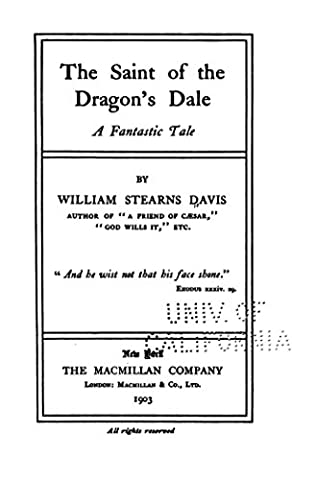book cover of The Saint Of The Dragon\'s Dale