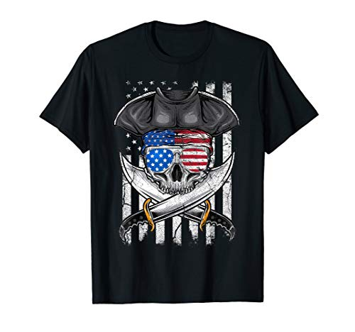 4th of July Pirate American Flag USA Men