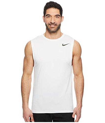 Nike Men's Dry Breathe Hyper Muscle Sleeveless Shirt - White/White, M