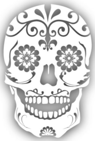 Sugar skull floral mexican window sticker decal white