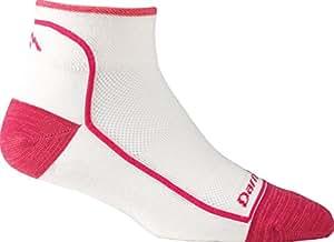 Darn Tough Vermont Women's 1/4 Merino Wool Ultra-Light Athletic Socks Hot Pink 2 Pack Small