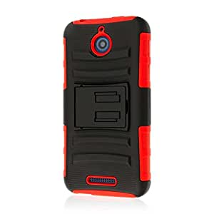 HTC Desire 510 Belt Clip Case, MPERO IMPACT XT Series Kickstand Case and Belt Clip Holster for HTC Desire 510 - Red