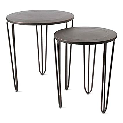 TAG Burnished Nesting Tables, Antique Bronze   Set Of 2 (901827)