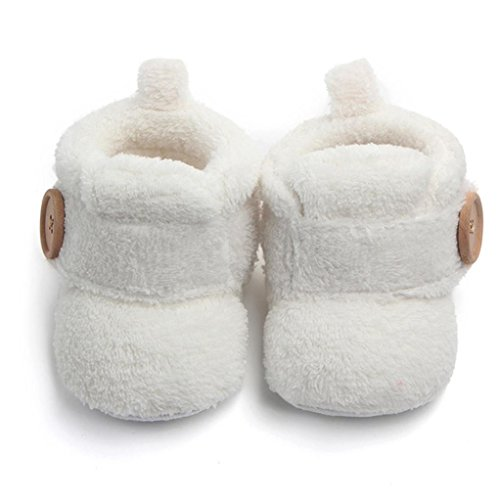 Axinke Winter Soft Warm Cute Baby Boys Girls Newborn Infant Shoes with Button Closure