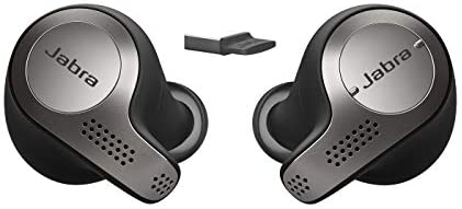 Jabra Evolve 65t True Wireless Bluetooth Earbuds, MS Optimized – Superior Call Quality and Connectivity – Passive Noise Cancelling Earbuds with up to 15 hours of Battery Life with Charging Case