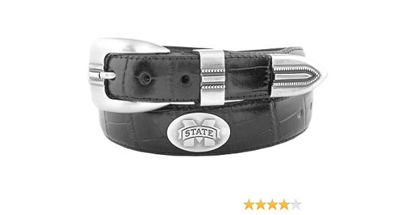 36 Brown ZEP-PRO NCAA Texas State Bobcats Mens Swt-Bolp-Brw-36NCAA Texas State Bobcats Leather Concho Belt