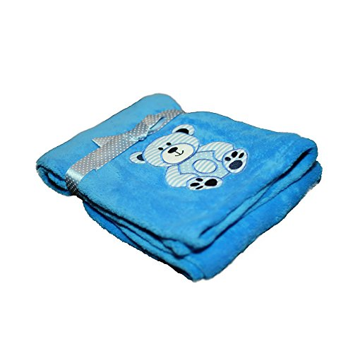 (Luxurious Cozy Premium Super Soft 30 x 40 Fleece Throw Baby Blanket for Strollers, Car Seats, Kids Bed & Pets (Teddy Bear))