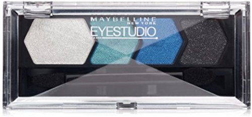 Maybelline EyeStudio Color Plush Silk Eyeshadow Quad, Sapphire Siren [20] 0.09 oz (Pack of 5)