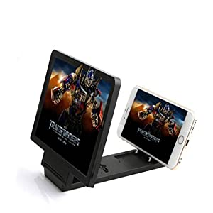 Aobiny Mobile Screen Magnifier Cell Phone 3D HD Movie Video Amplifier Holder Stand New Eyes Protection Display Folding Enlarged Expander (Black)
