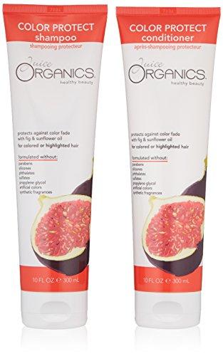 Juice Organics Color Protect Shampoo & Conditioner Bundle, Fig, 10 oz.