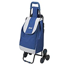 Drive Medical Deluxe Rolling Shopping Cart with Seat, Blue