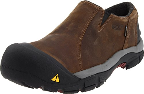 KEEN Men's Brixen Lo WP Insulated Shoe,Slate Black/Madder...