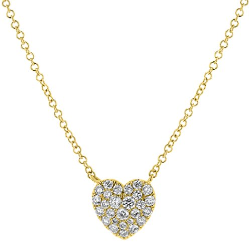 Olivia Paris 14k Yellow Gold Diamond Heart Layer Necklace (1/4 cttw, H-I, I1) 16-18
